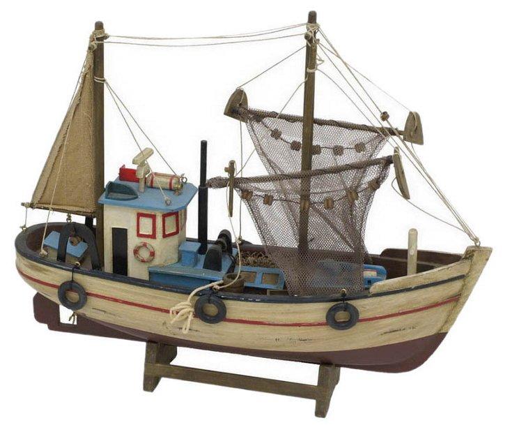 "15"" Wood Fishing Boat"