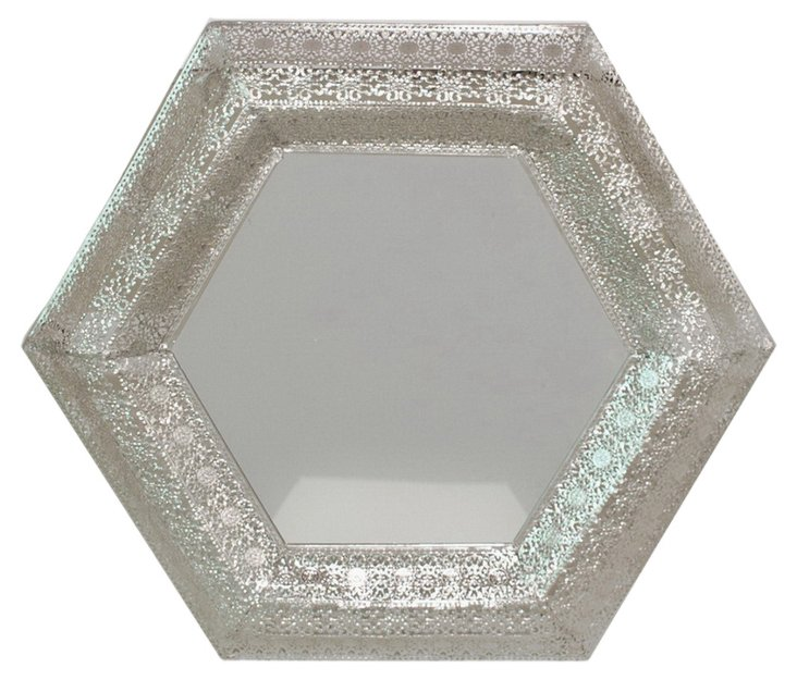 Ashland Wall Mirror, Silver