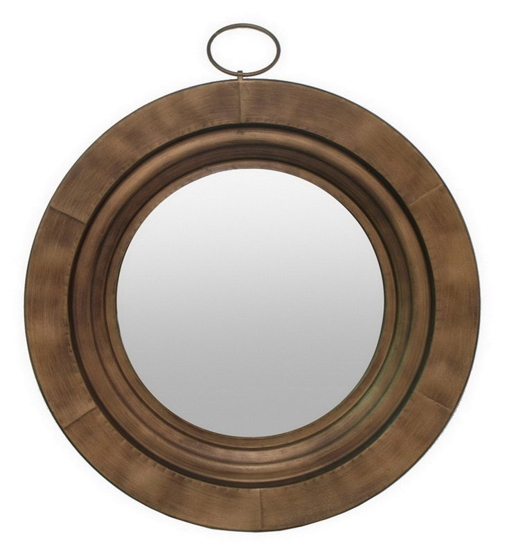 Freeport Wall Mirror, Dark Gold