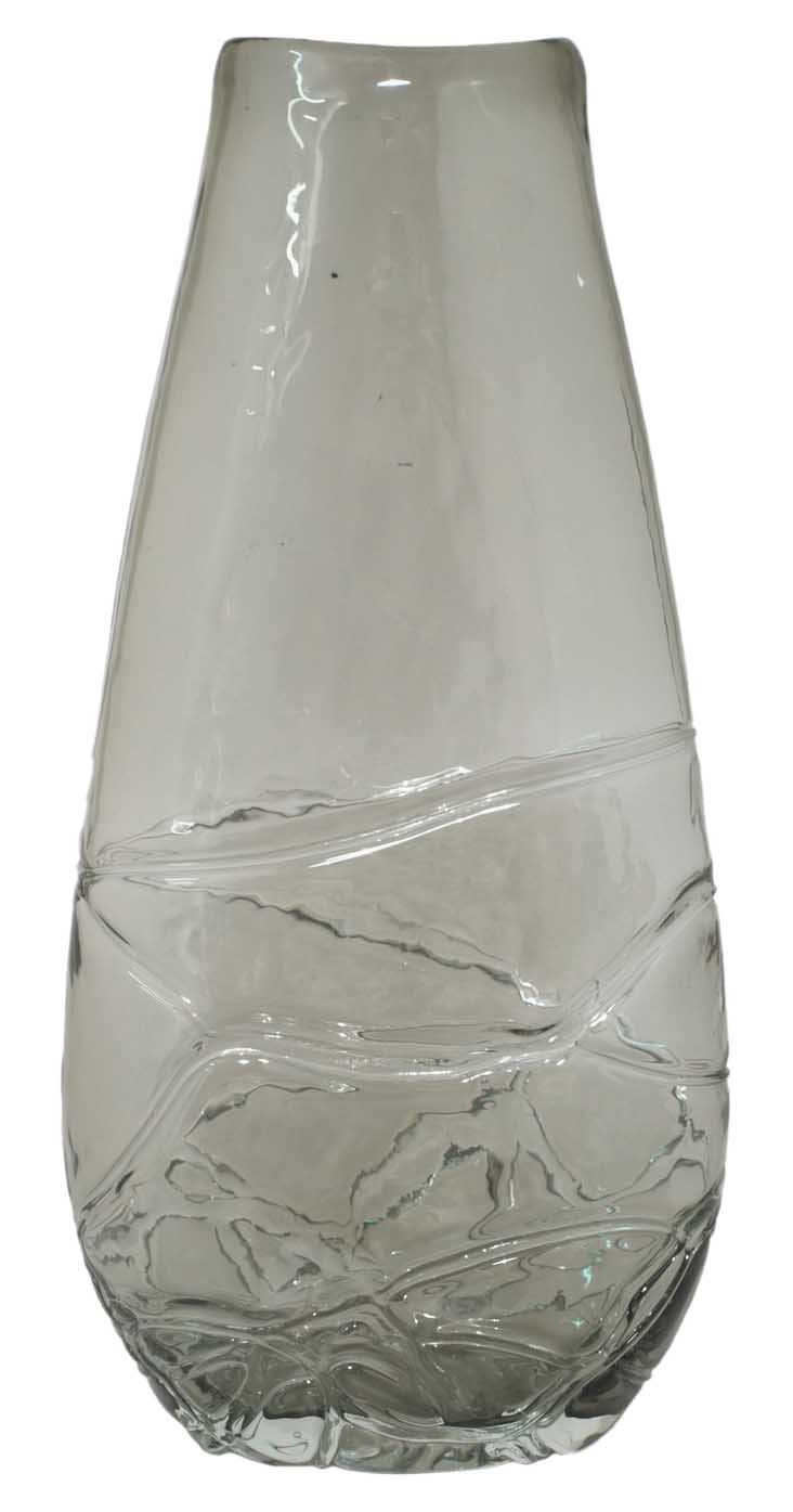 "16"" Glass Vase, Gray"