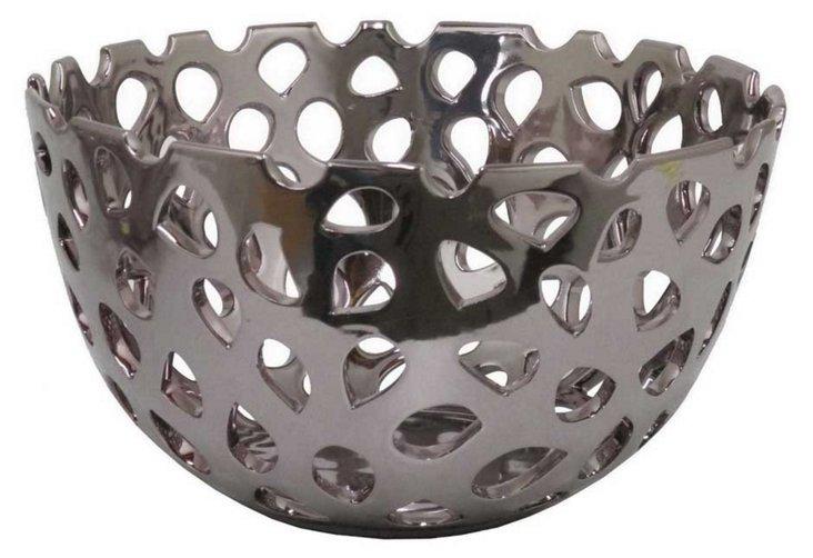 "13"" Ceramic Bowl, Gray"