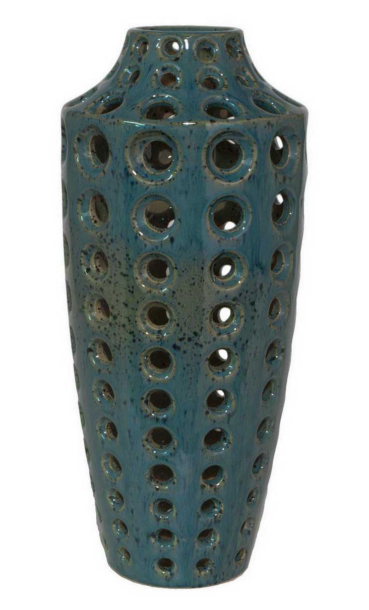 """18"""" Ceramic Vase, Blue"""