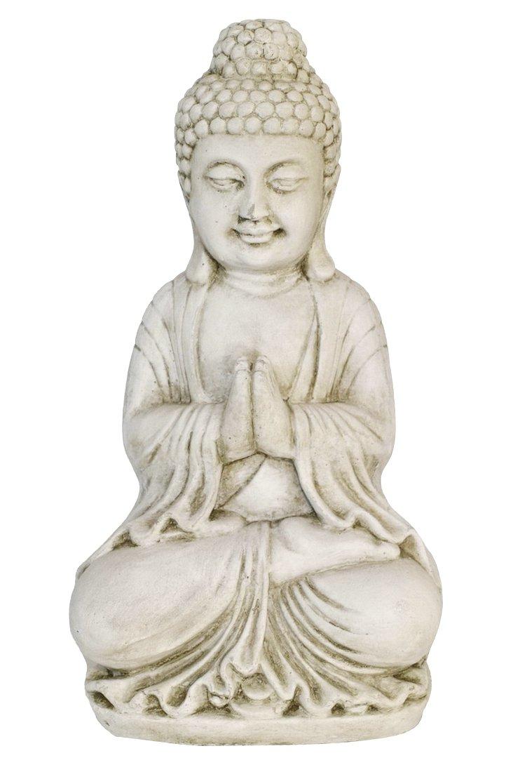 """16"""" Buddha Figurine, White"""