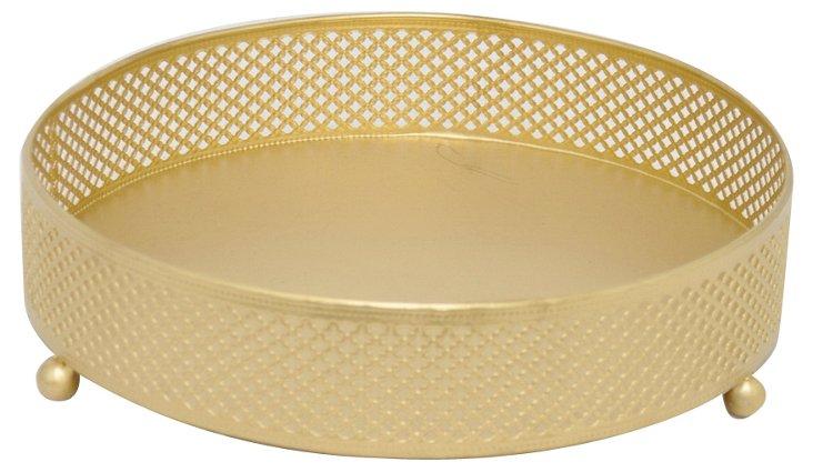 "10"" Jewelry Tray, Gold"