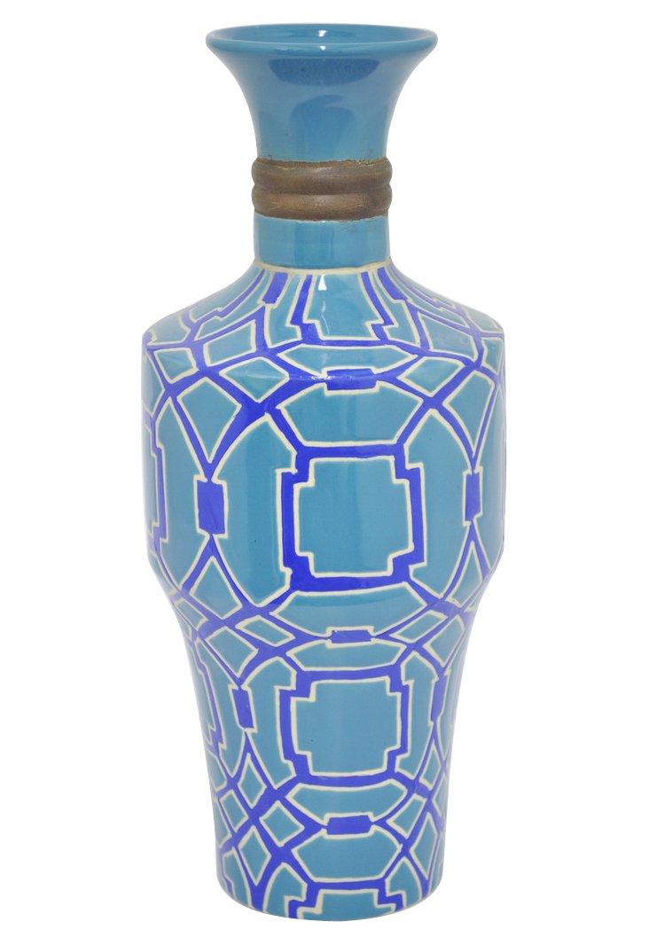 """16"""" Paloma Vase, Blue"""