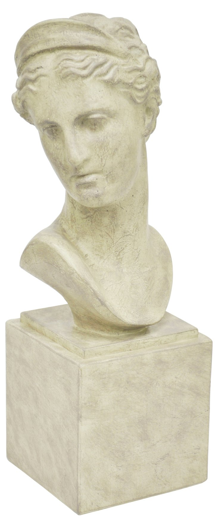 "18"" Classical Female Bust, White"