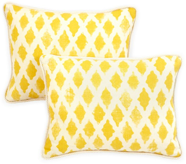 Michael Devine Fabric Pillows, Pair III