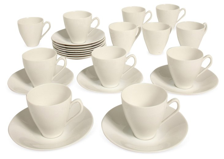 Demitasse Cups & Saucers, Svce for 12