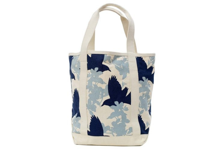 Large Crows Tote, Gray
