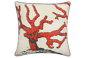 Corallum 22x22 Pillow, Coral