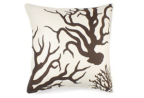 Coral 22x22 Pillow, Java