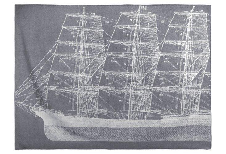 Maritime Throw, Charcoal