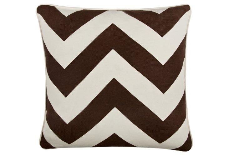 Chevron 18x18 Pillow, Java