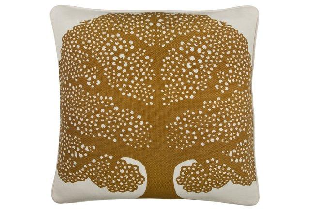 Arbor 18x18 Cotton Pillow, Brown