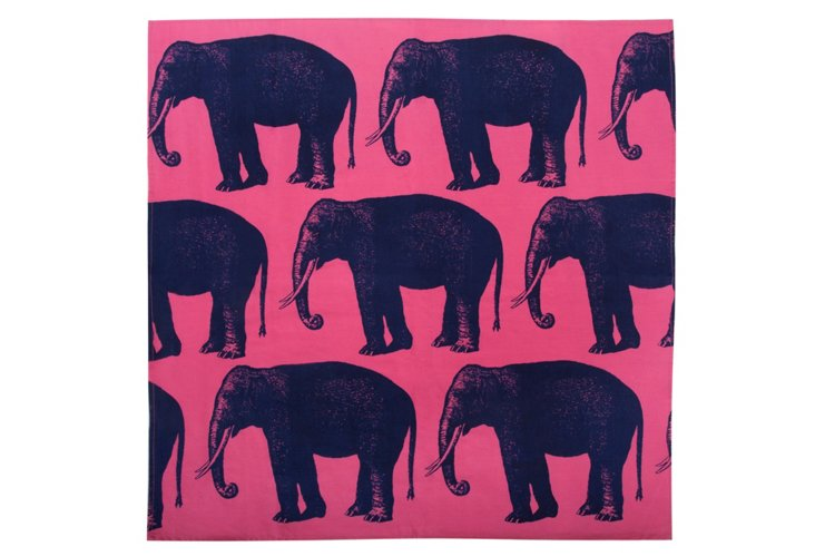 Elephants Bandana, Pink