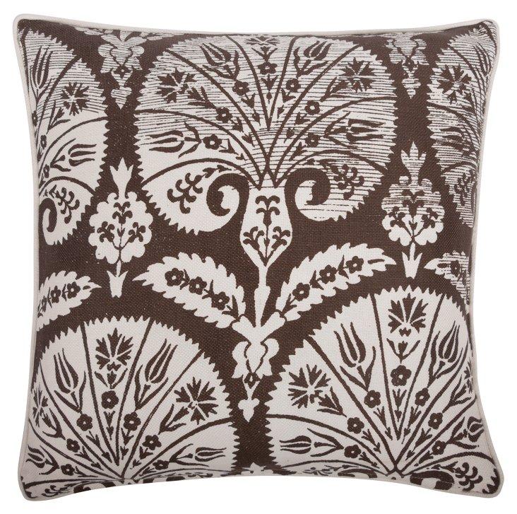 Batik Fans 18x18 Pillow, Java