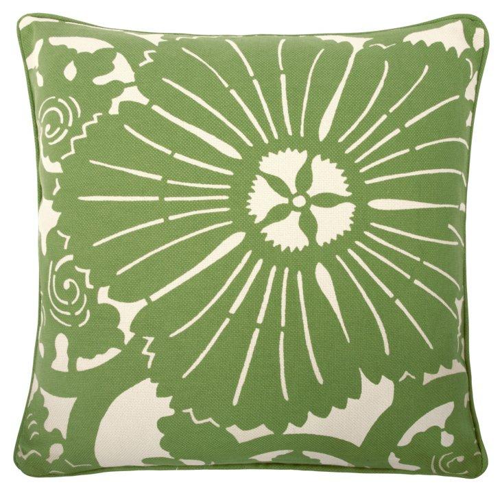 Block Floral 18x18 Pillow, Kiwi
