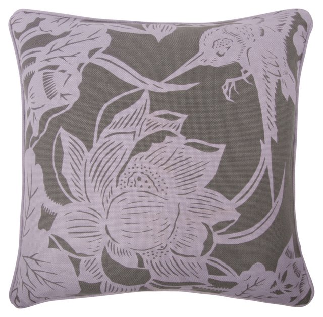 Hummingbird 18x18 Pillow, Lavender