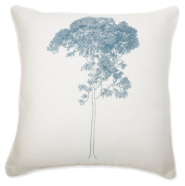 Birch 18x18 Pillow, Night