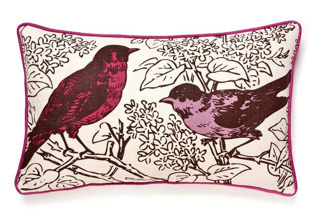 Perch 12x20 Cotton-Blend Pillow, Violet