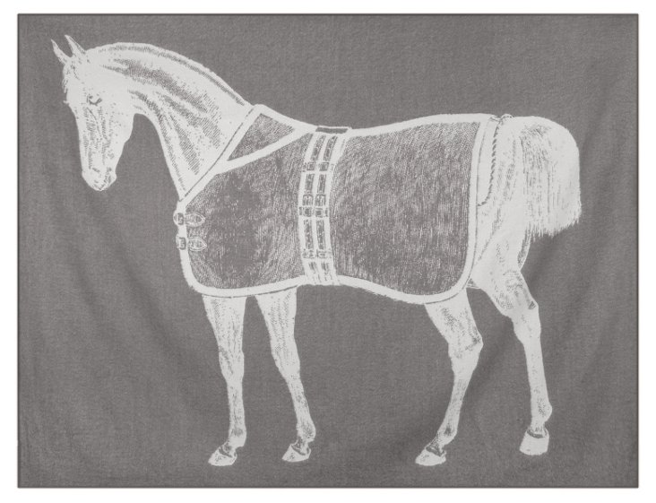 Thoroughbred Alpaca Throw, Charcoal