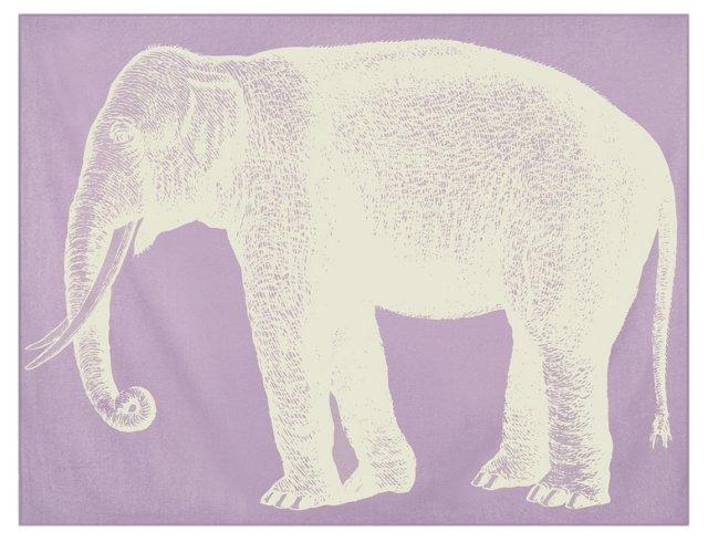 Elephant Alpaca Throw, Lavender