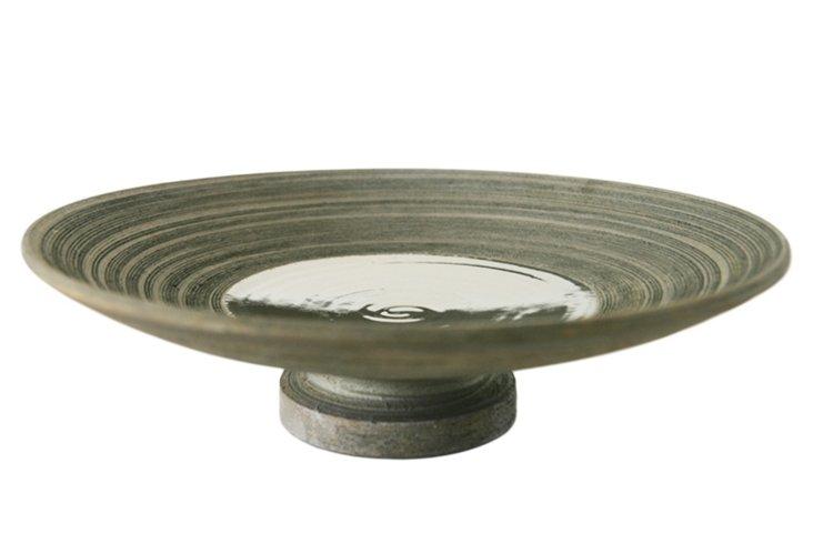 """15"""" Wheel-thrown Vortex Footed Platter"""