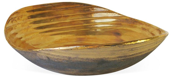 14x11 Gold Infinity Wave Bowl
