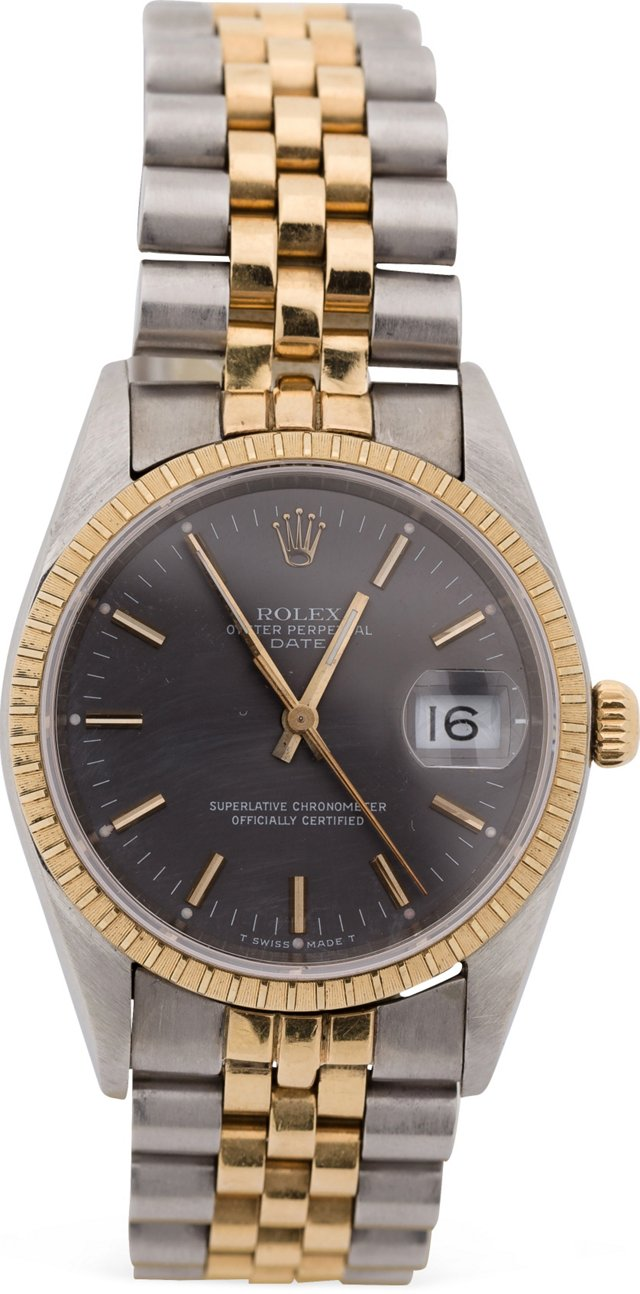 Stainless Steel & Gold Rolex Date