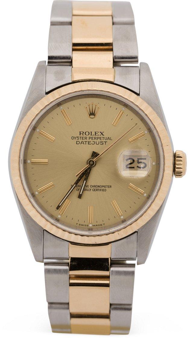 Vintage Rolex Datejust, Champagne Dial