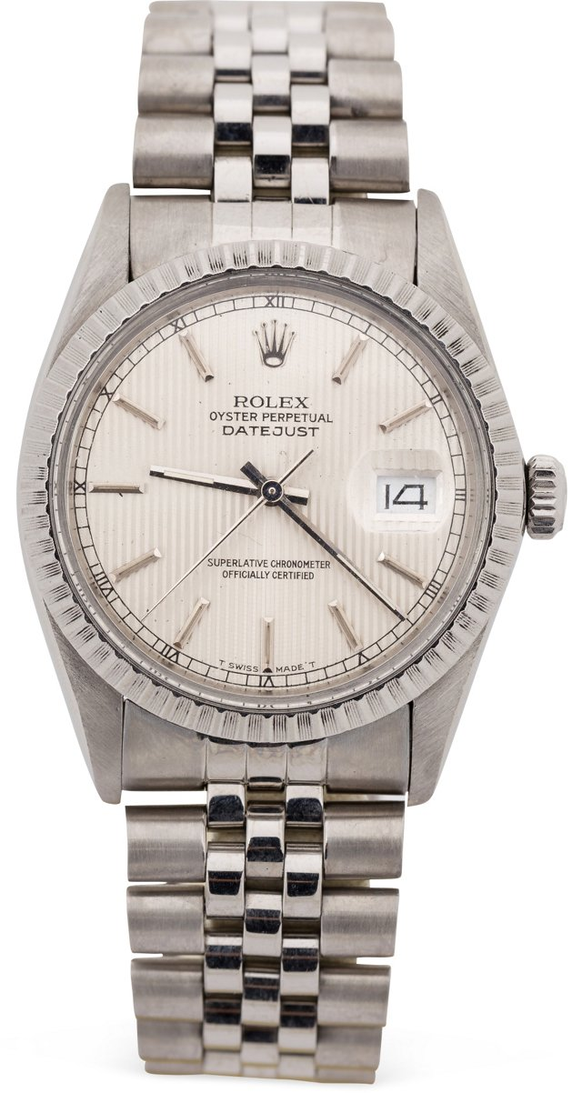 Rolex Datejust w/ Silver Tapestry Dial