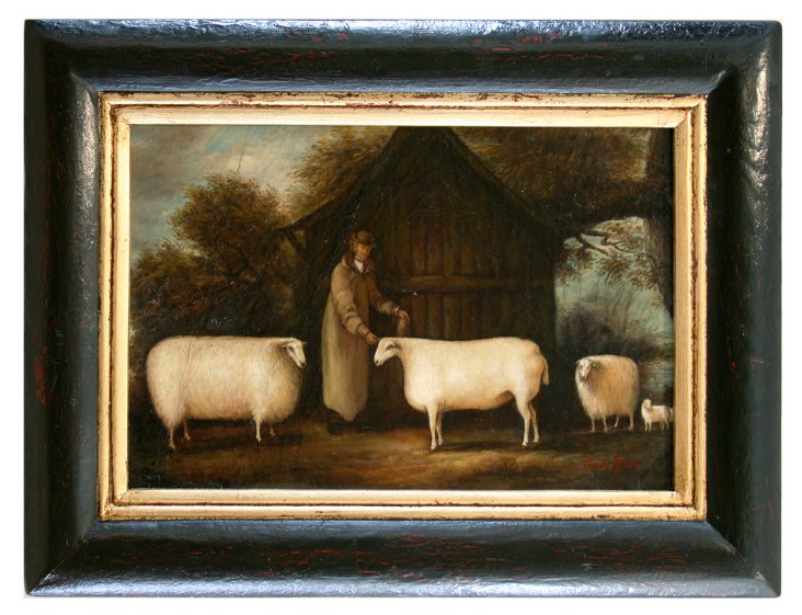 Man with Prized Sheep