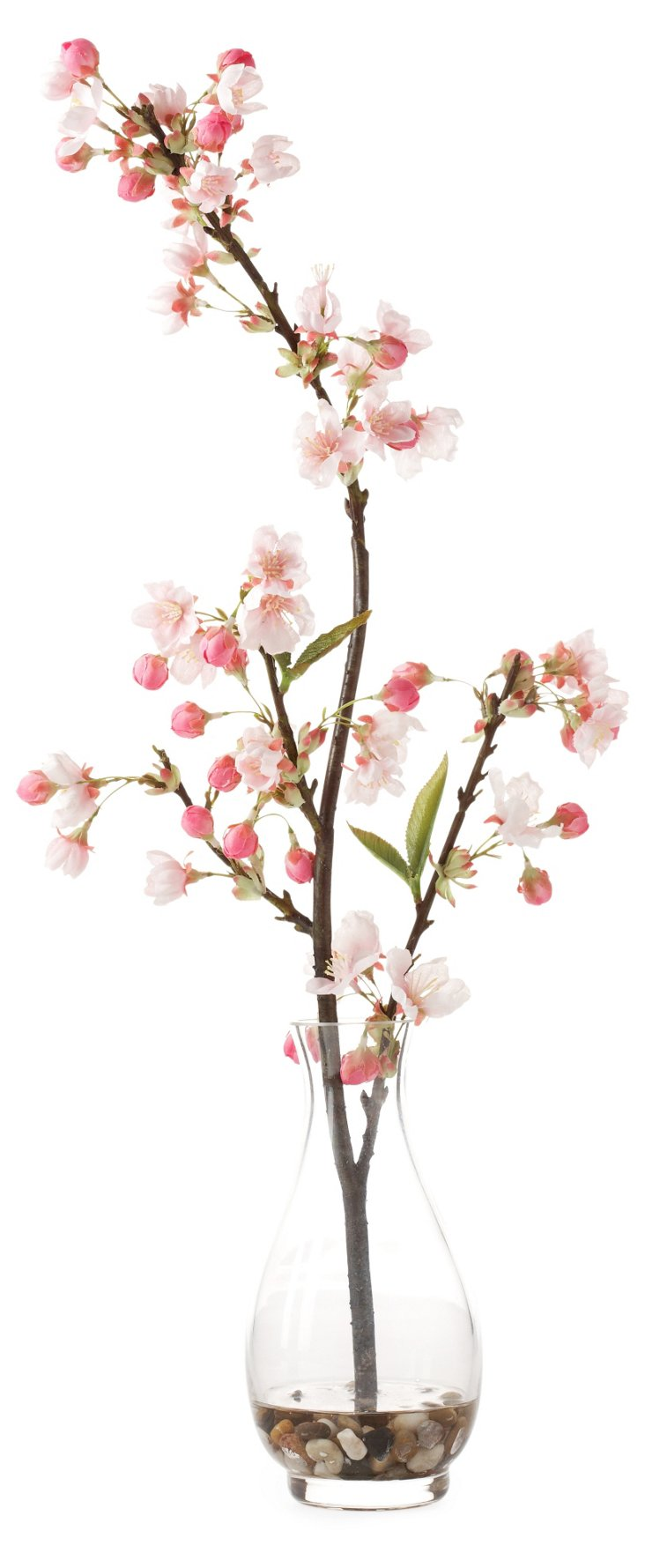 "23"" Cherry Blossom in Glass Vase, Pink"