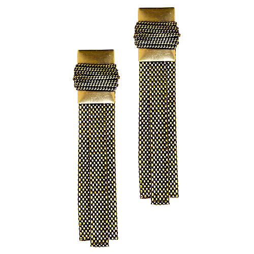 Howin Mesh-Strip Earrings