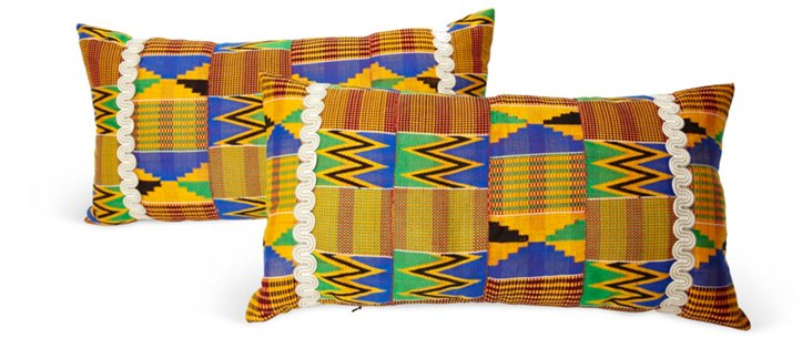 Sub Saharan Weave Pillows, Pair