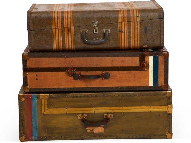 Travel Trunks, Set of 3