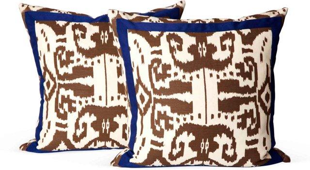 China Seas Ikat Pillows, Pair