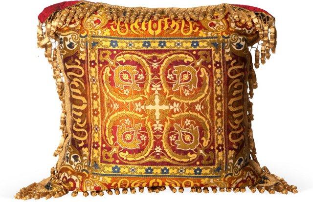 Golden Tassel Pillow