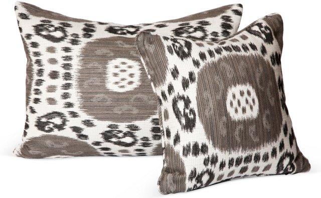 Robert Allen Ikat Pillows, Set of 2