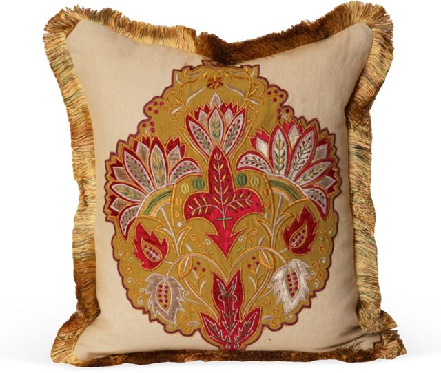 Mulberry Paisley Medallion Pillow