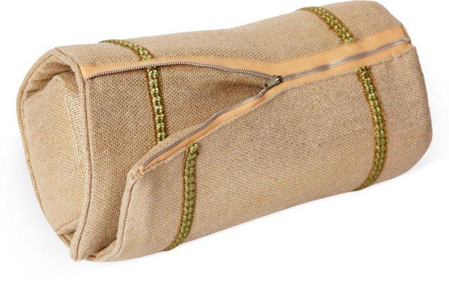 Gold Zipper Bolster Pillow