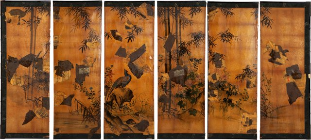 Chinoiserie Screen Panels, Set of 6