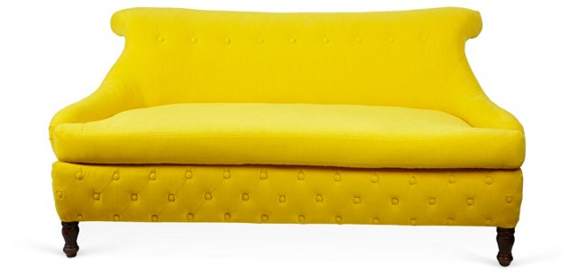 Yellow Diamond Sofa