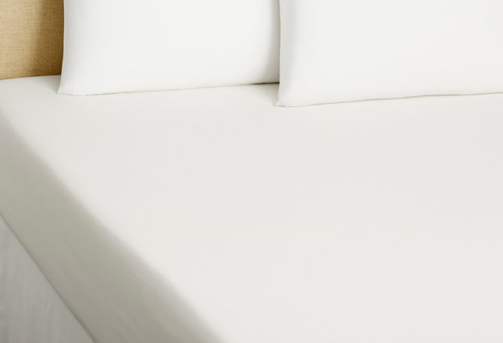 PerfectCale Fitted Sheet, White