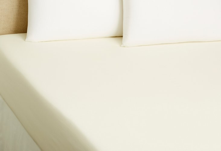 King Fitted Sheet, Ivory