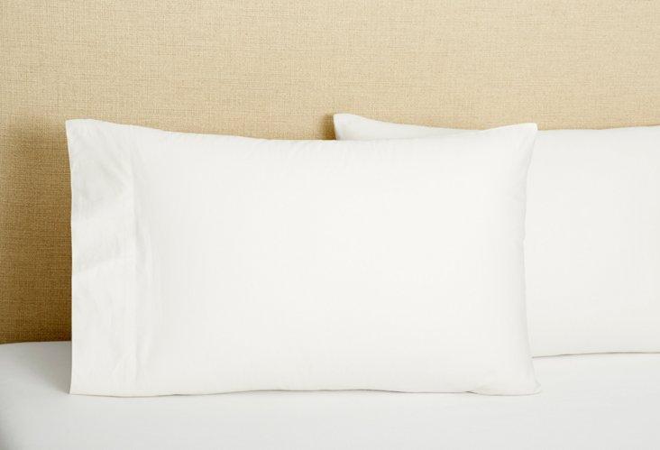 S/2 Pillowcases, White