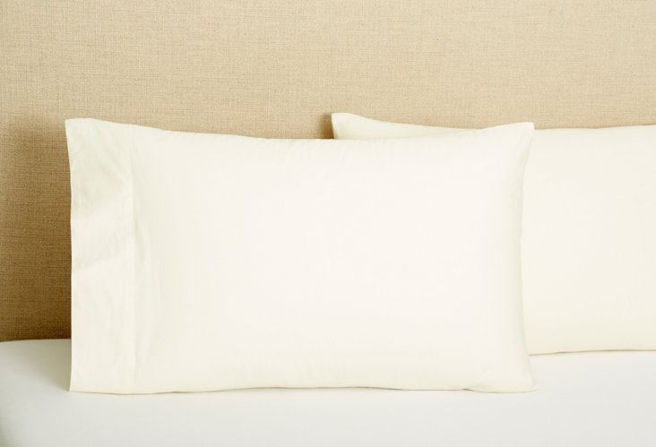 S/2 Pillowcases, Ivory