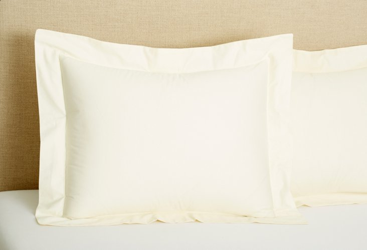 S/2 PerfectCale Shams, Ivory