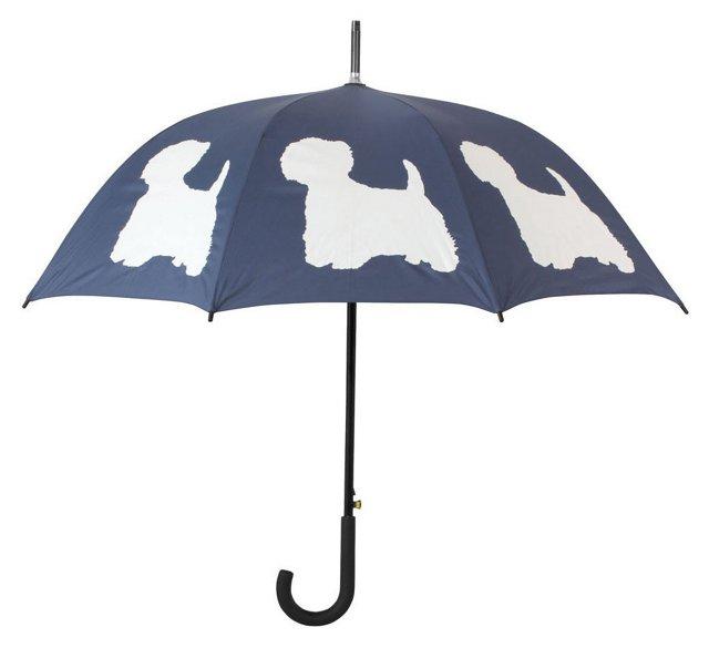 Walking Stick Umbrella, Highland Terrier