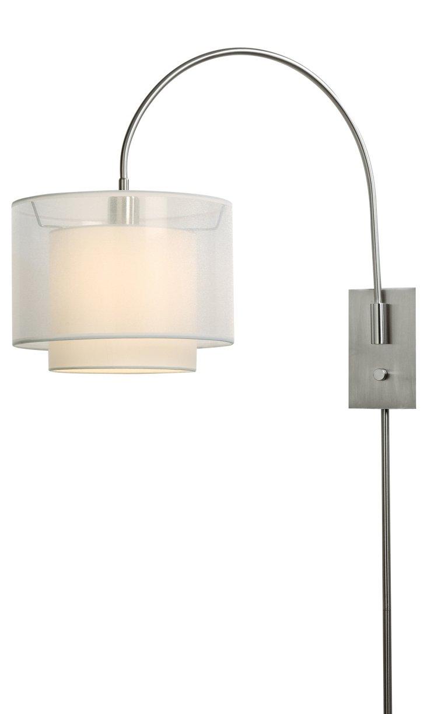 Brella Small Arc Wall Lamp, Nickel